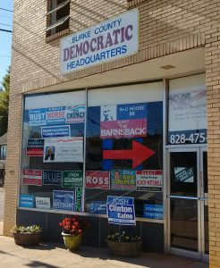 Burke County Democratic Party headquarters in Morganton