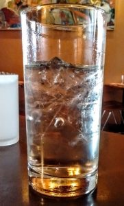 Is my water glass at Root & Vine two-thirds full or one-third empty? Our waitress says, 'Empty!'