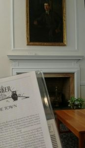 Reading the current New Yorker in Morganton's public library