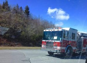 Blowing Rock VFD at the Green Mountain Overlook on Friday
