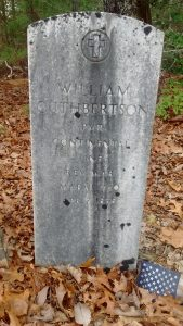 Headstone of Revolutionary War soldier William Cuthbertson